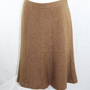 Brooks Brothers Wool Skirt 12 Brown Lined